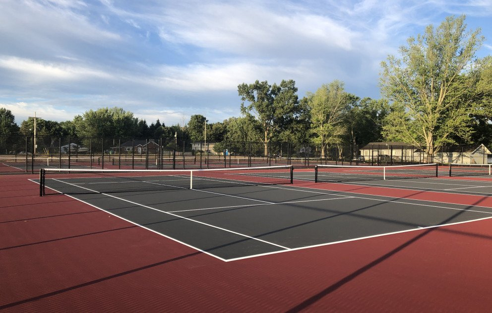 Brandywine Community Schools Completed Tennis Court with Striping and Nets