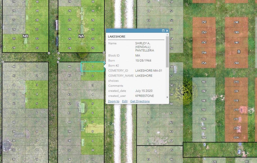 Cemetery Mapping Hagar Lakeshore