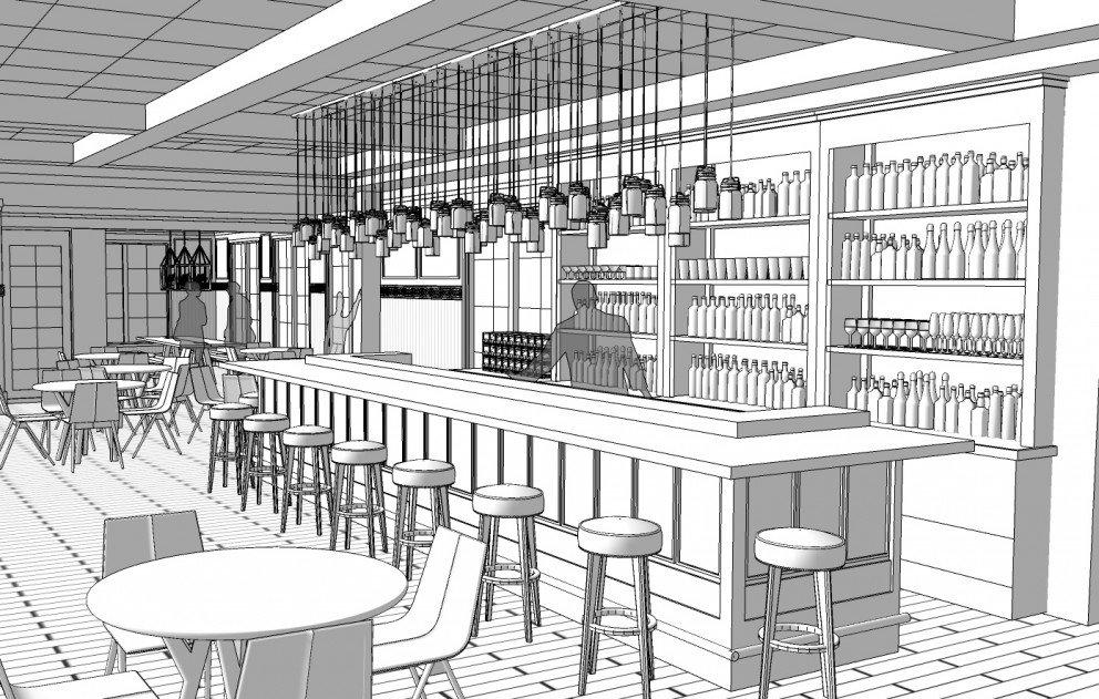 Bar area rendering