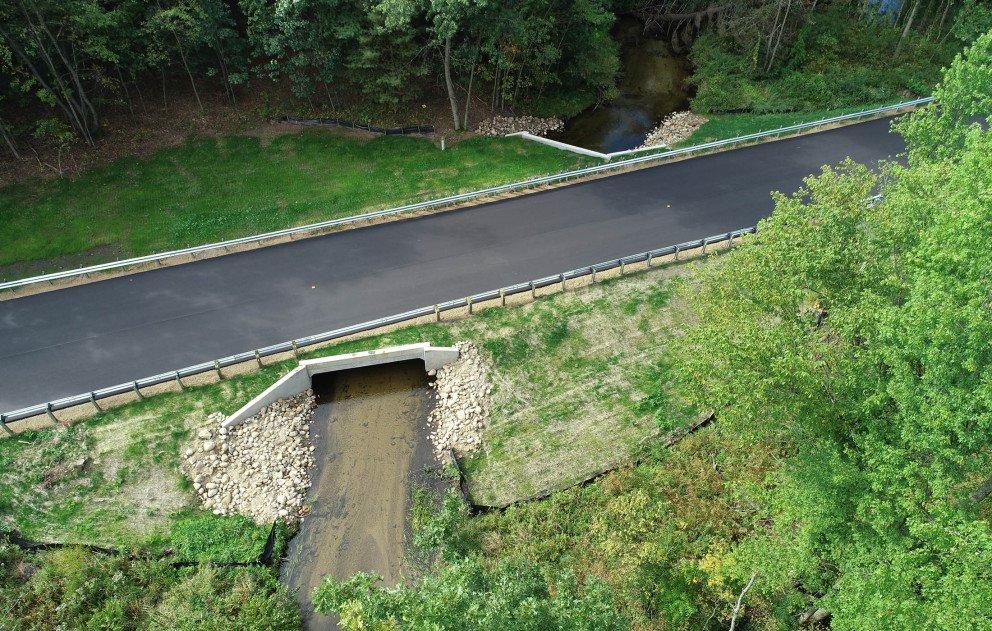 Halbert Road Culvert with Creek New Road