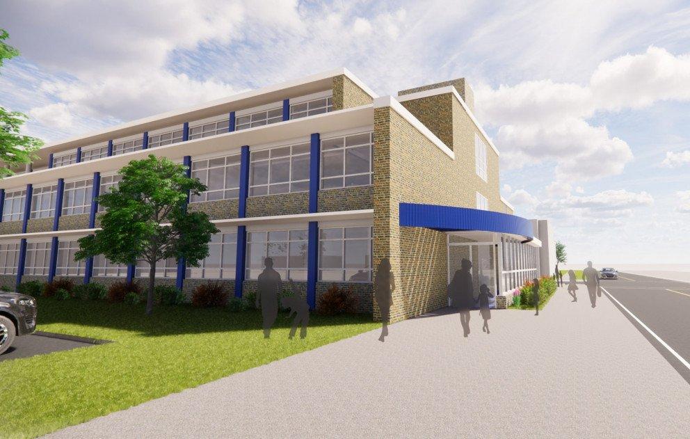 Elementary School Exterior Rendering