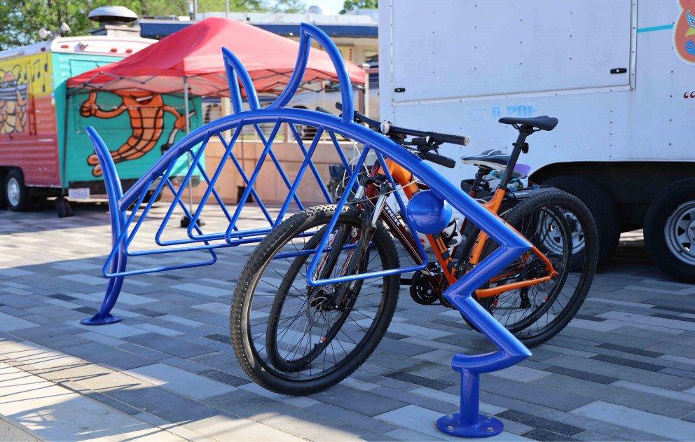 Shark bike rack