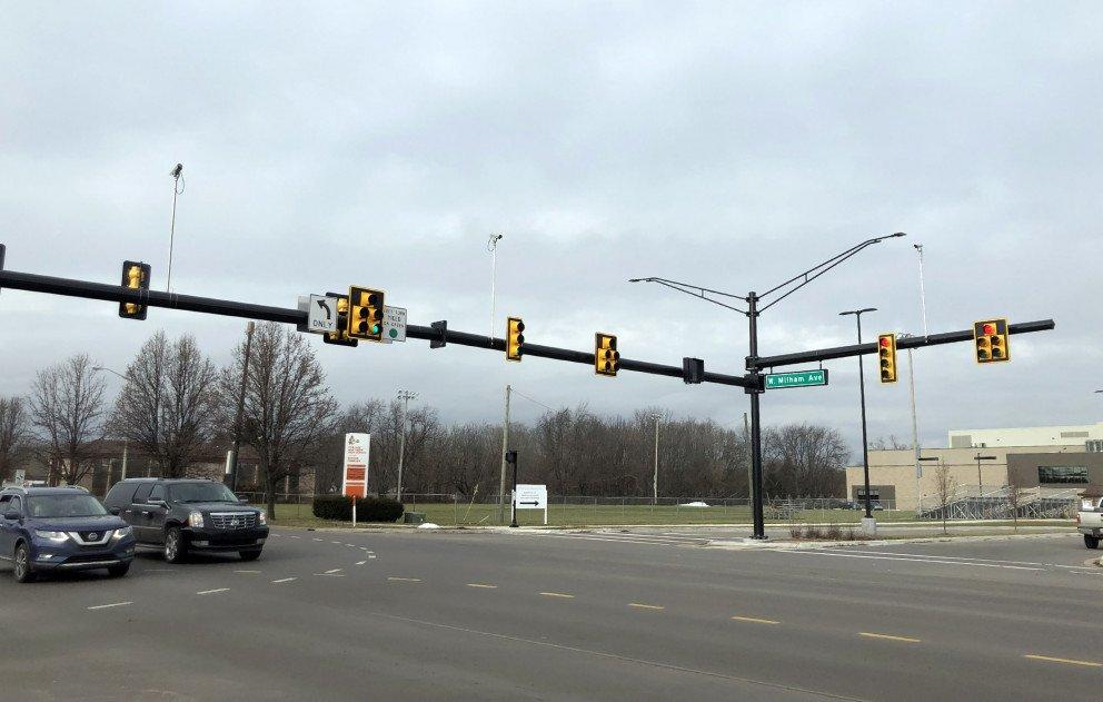Milham Ave Signals at Constitution-Blvd