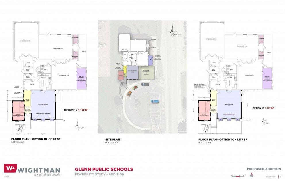 Glenn Public Schools Site and Floor Plan Rendering