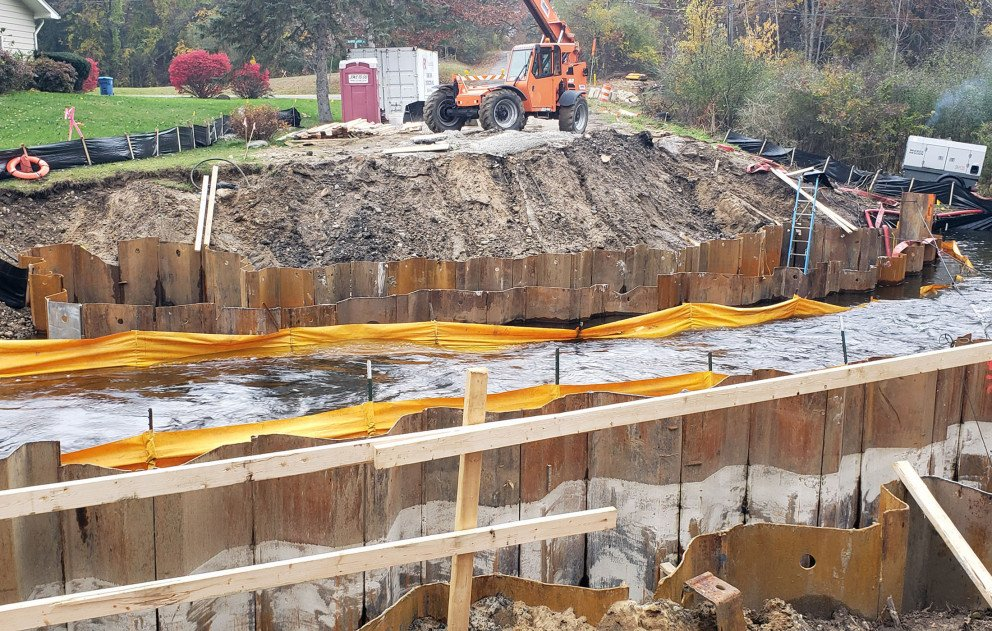 D Drive N Culvert Construction with Crane