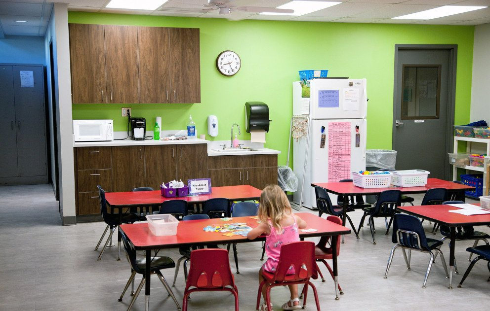 Trinity Lutheran Table and Cabinets