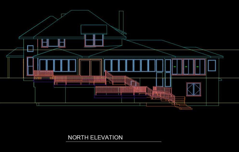 CAD North Elevation