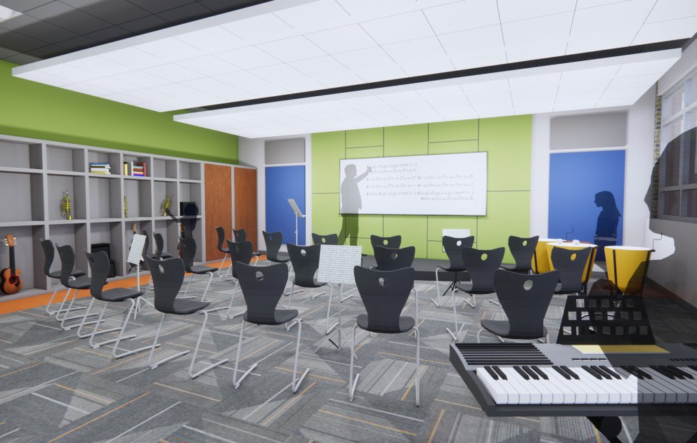 Music Room Rendering