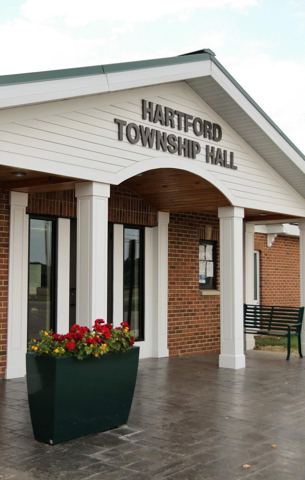 Hartford Twp Hall Entrance