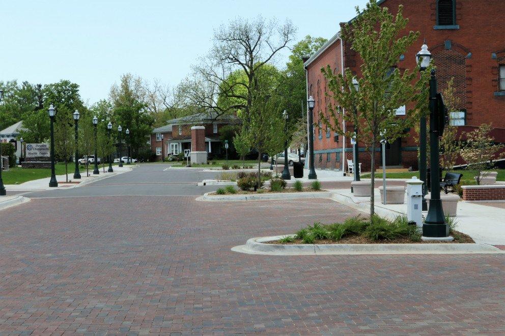 Dowagiac Quality of Life brick streetscape