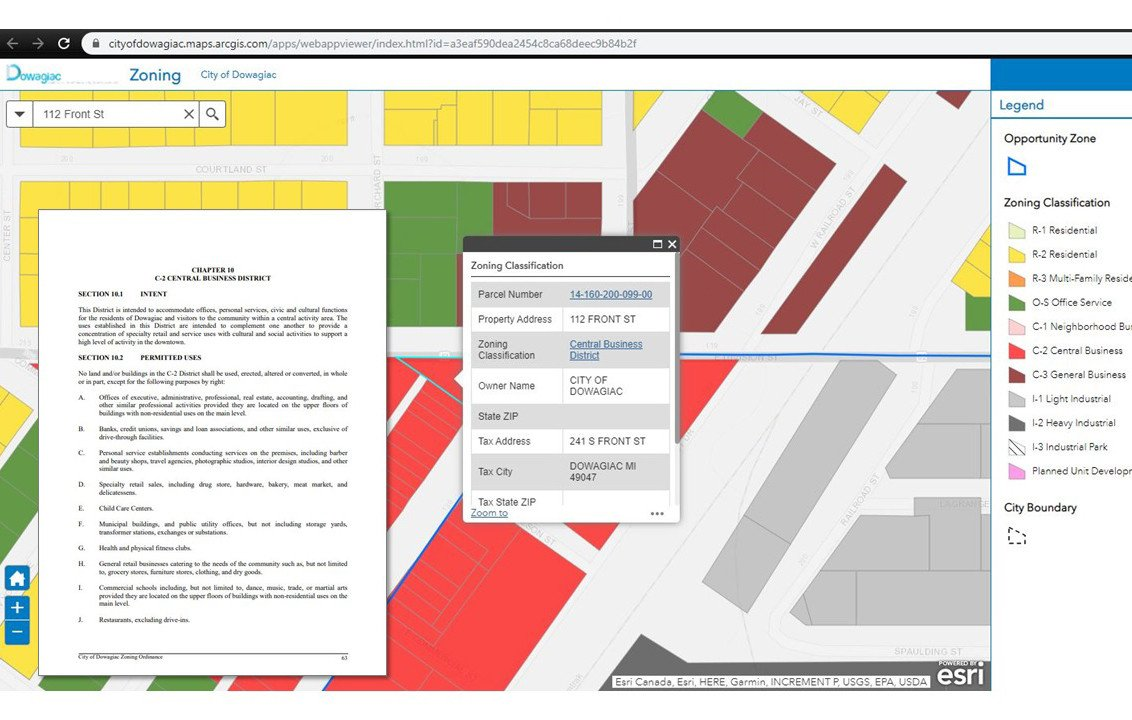Wightman Zoning Online Mapping Dowagiac Michigan