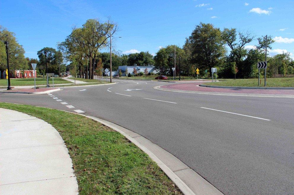 Kalamazoo Roundabout roadway