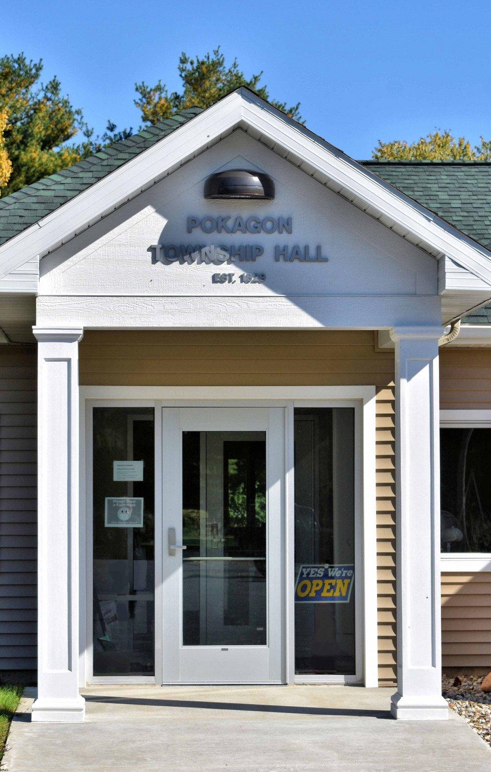 Pokagon Township Hall Front Entrance