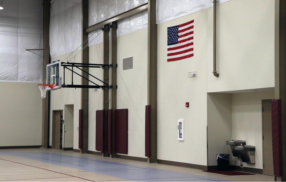 Brandywine Gym Wall with Basketball Hoop