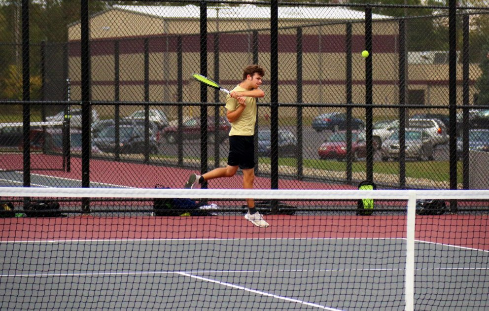Brandywine Tennis Court Player Hitting Ball