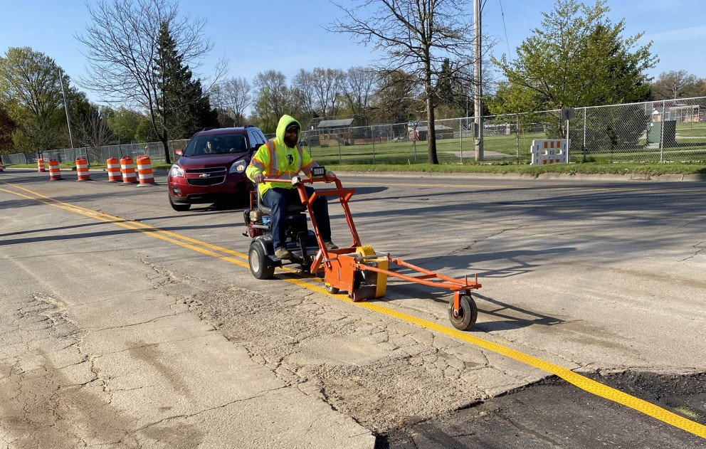 Installing Temporary Pavement Markings and Striping for Traffic Control