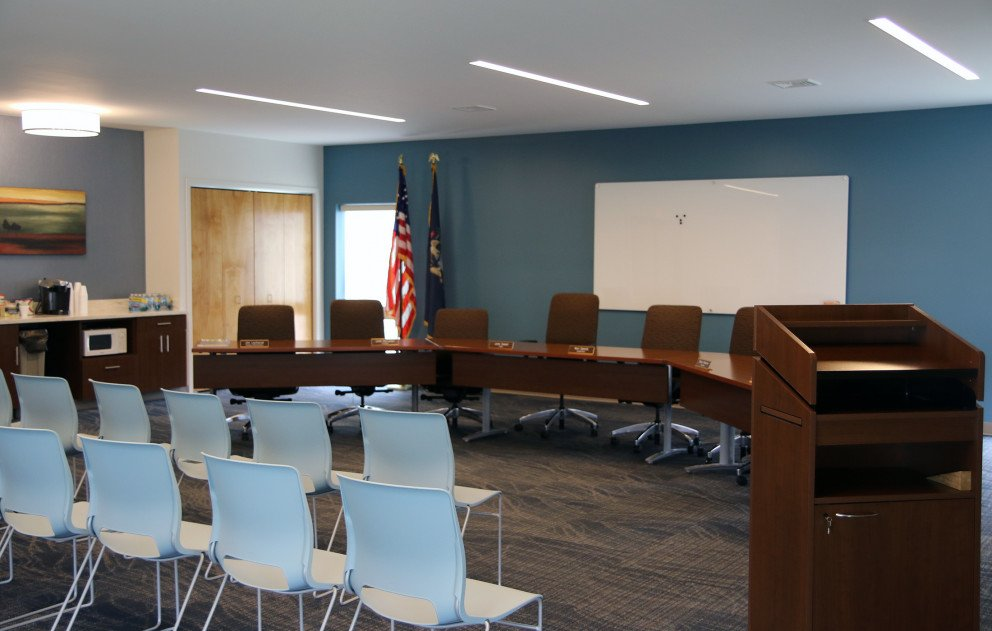 Hartford Twp Hall Chambers Lectern and Seating