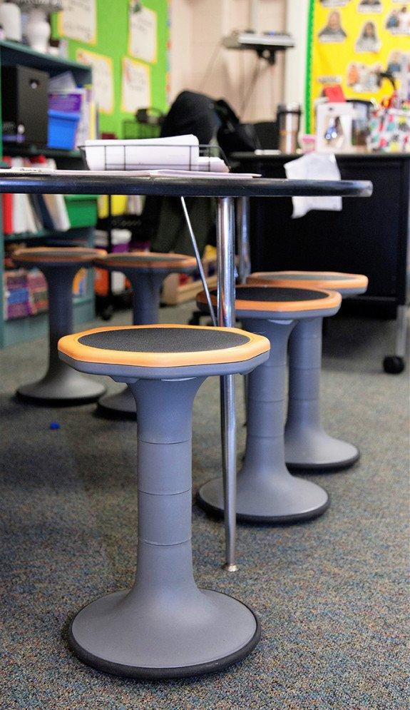 New Buffalo Schools loose furnishings classroom wobble stools