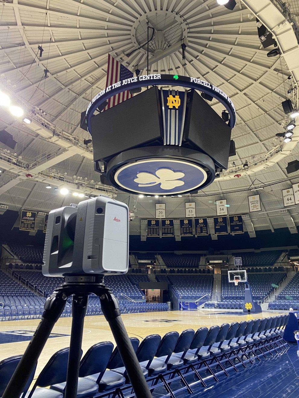 Wightman Reality Capture Scanner on Joyce Center Floor