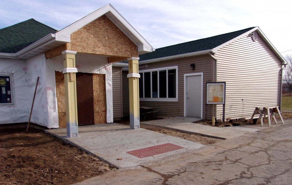 Pokagon Township Hall Entrance Construction