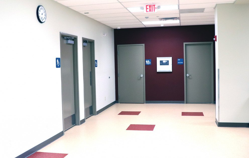 Brandywine Gym Locker Room Entrances