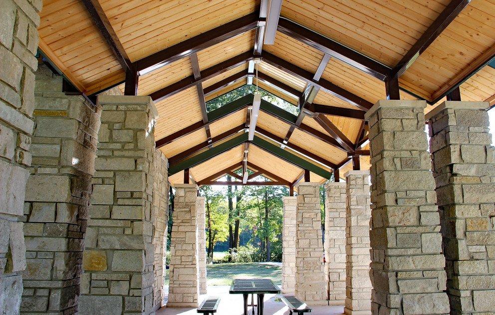 Eliason Trailhead Pavilion Inside Roof Detail