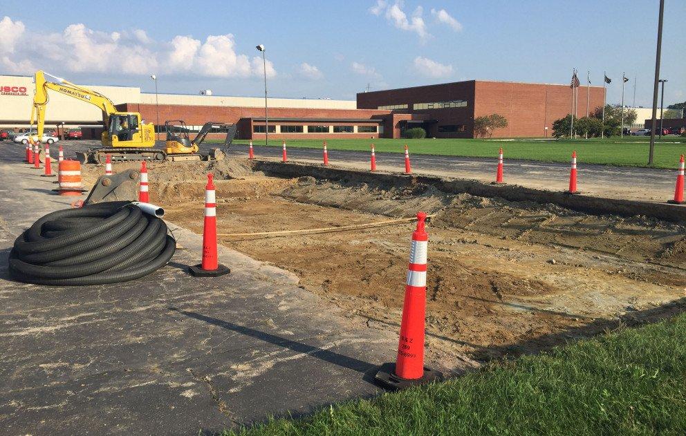 Ox Creek Rain Garden Parking Lot Excavation