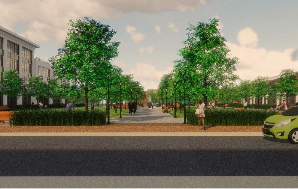 Proposed Pipestone Plaza Park