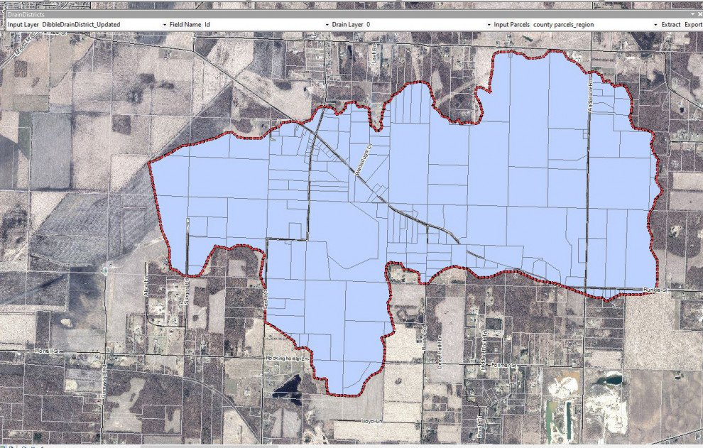 GIS Drain Tool Map