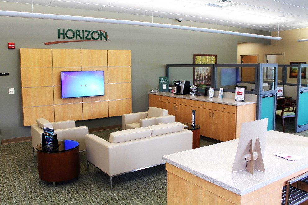 Horizon Bank Carmel central waiting area seating