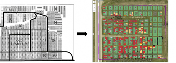 Cemetery Mapping Map Conversion