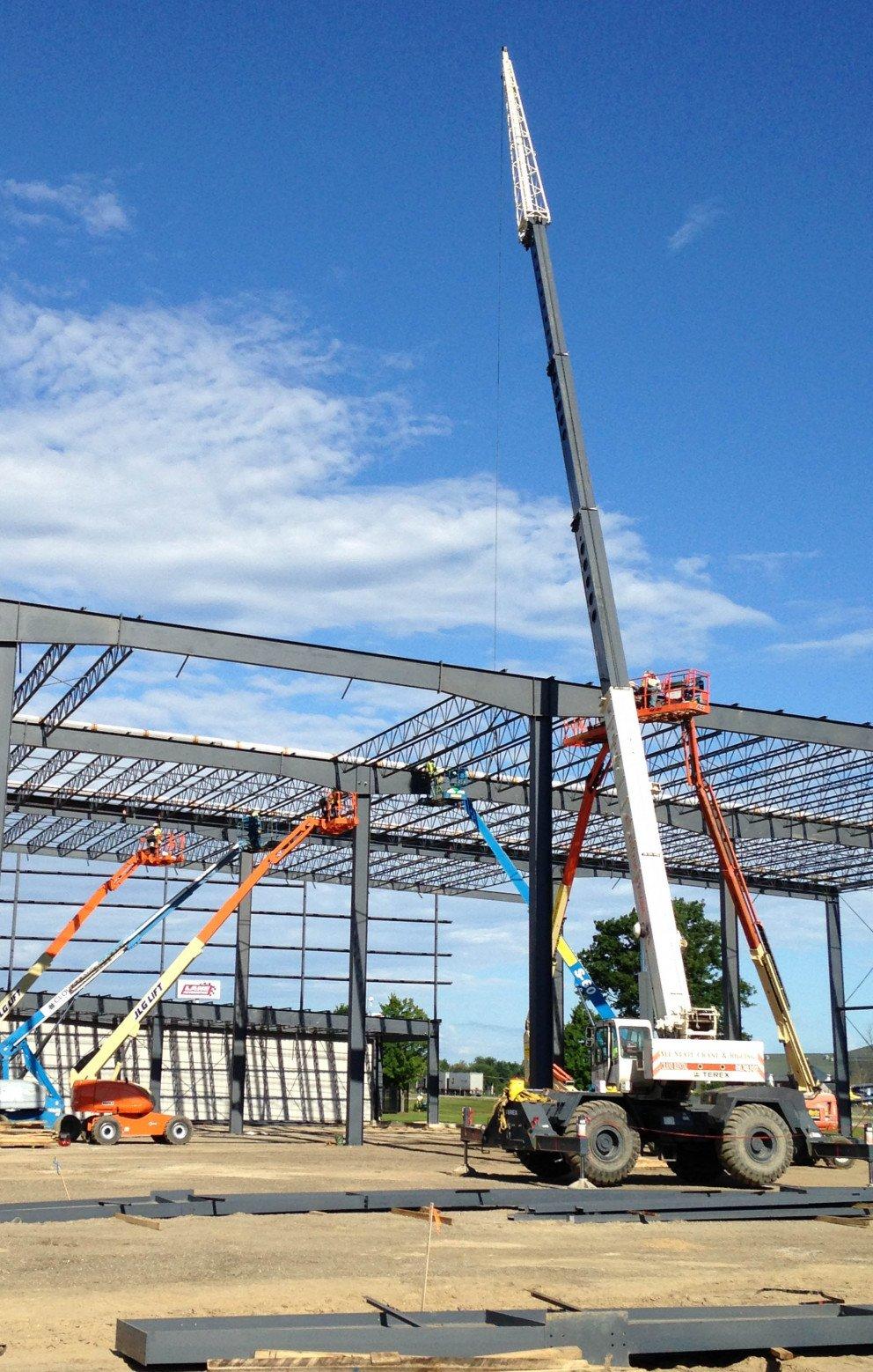Lane Automotive construction crane