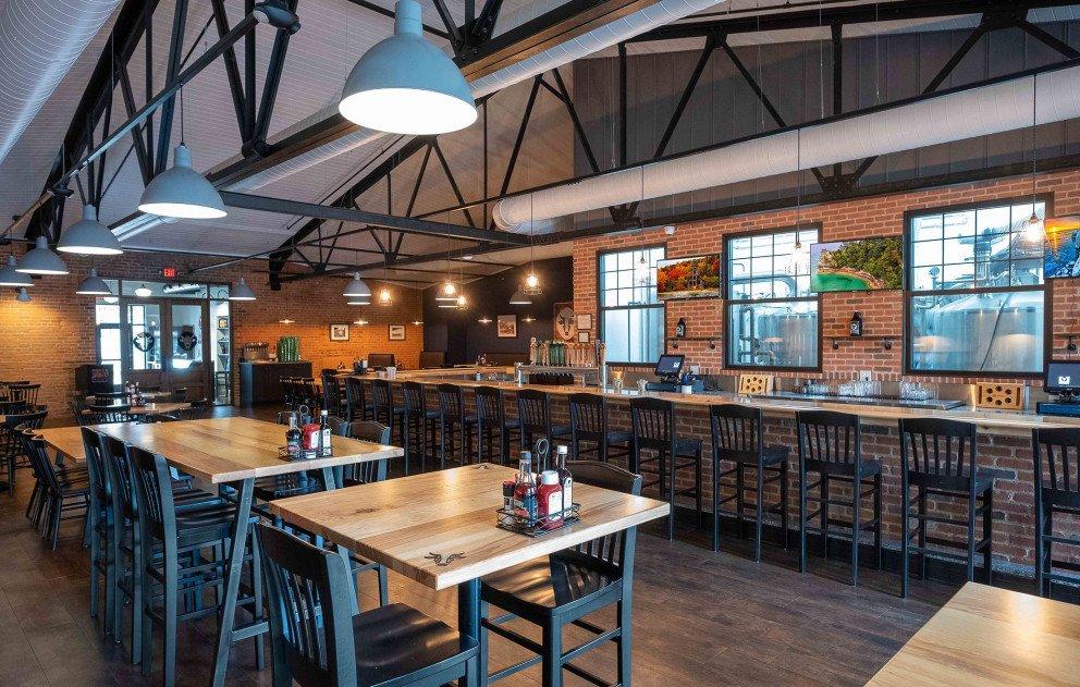 Schaendorf Brewery Tables Bar Area
