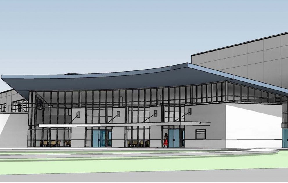 BSPS PAC IAC Front Entrance Rendering