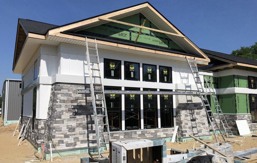 Cass Municipal Building Stone Work