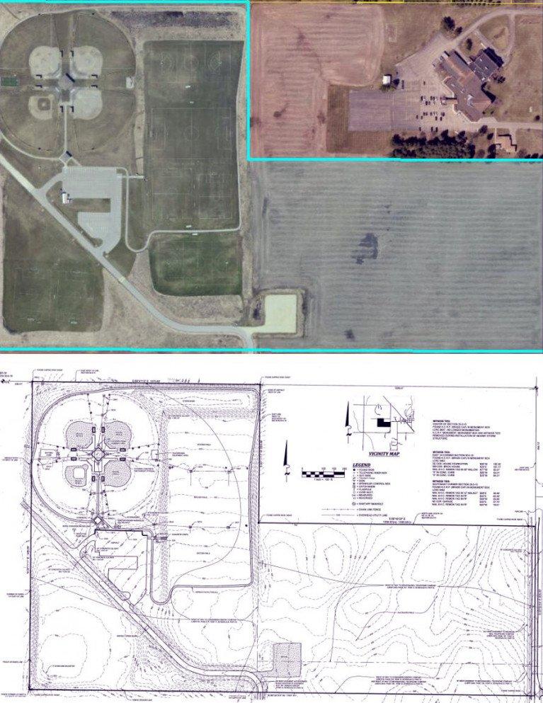 ALTA survey and aerial comparison