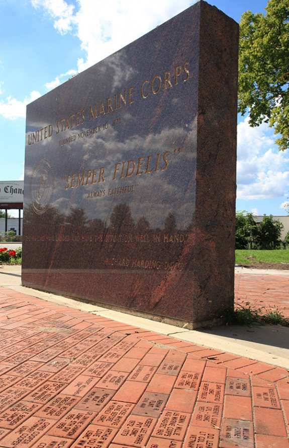 Rose Park Veterans Memorial monument
