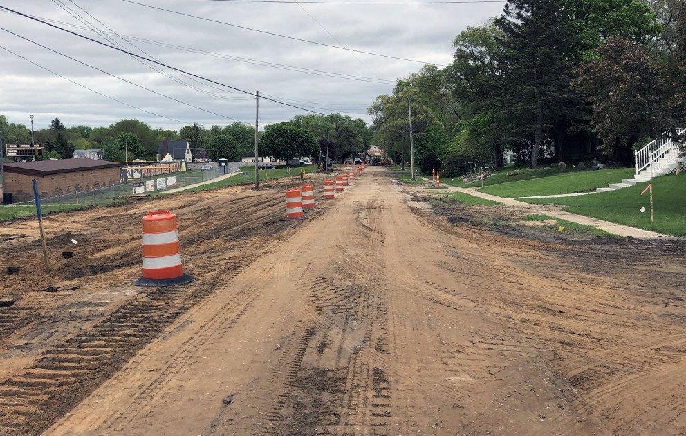 Idaho Avenue Under Construction