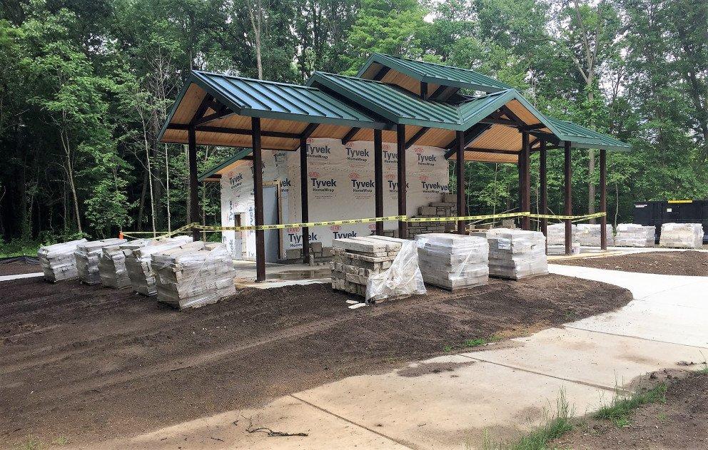 Eliason Trailhead Pavilion During Construction