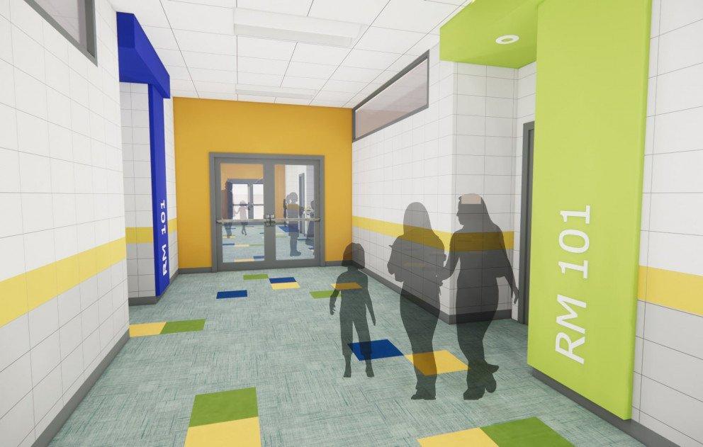 Corridor to Classrooms