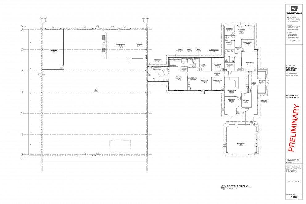 Cassopolis Municipal Building Floor Plan Concept