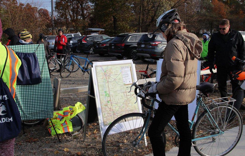 Indiana Michigan Trail Biker Viewing Map