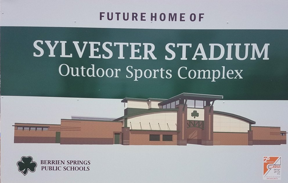 Sylvester Stadium Construction Site Sign
