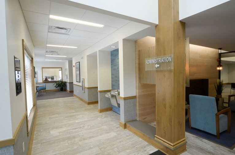New Buffalo Township Hall registration hallway