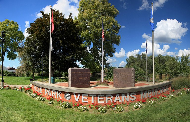 Rose Park Veterans Memorial panoramic view