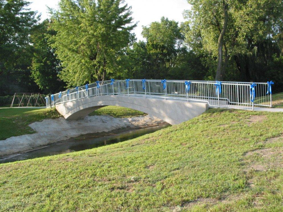 Baroda Pedestrian Bridge over Hickory Creek