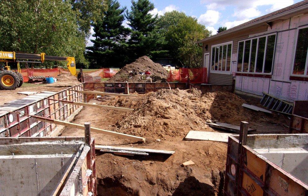 Pokagon Township Hall Foundation Work